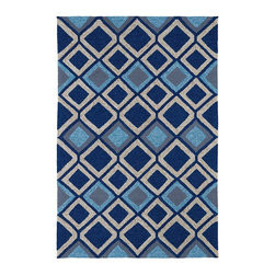 "Kaleen - Indoor/Outdoor Home and Porch  7'6""x9' Rectangle Blue Area Rug - The Home and Porch Collection area rug Collection offers an affordable assortment of Indoor/Outdoor stylings. Home and Porch Collection features a blend of natural Blue color. Handmade of 100% Polypropylene the Home and Porch Collection Collection is an intriguing compliment to any decor."