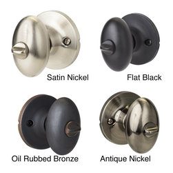 Sure-loc - Egg Shaped Privacy Door Knob Pair (Set of 2) - Finish your doors with these elegant egg-shaped door knobs, each made from a single piece of brass. Designed with a temporary locking function thats easy to unlock with the included tool, these are perfect for bathroom and bedroom doors.