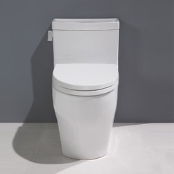 Toto - Toto | Legato One-Piece Toilet - Made by TOTO USA.A part of the Legato Collection. The Legato One-Piece Toilet is an elegant, low profile, elongated one-piece toilet that makes a statement in modern bathrooms. Made from a durable and easy-to-clean vitreous china that will withstand daily use. Features: