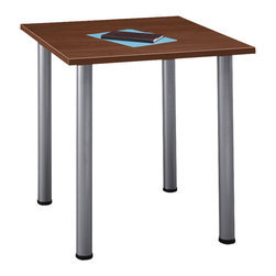 BBF - BBF Aspen Square Table with Wood Top and Metal Legs - BBF - Work Table - TS85400 - The BBF Aspen Square Table is an understated but appealing table solution that combines effortlessly with other Aspen Table Collection segments to produce a great variety of custom configurations.