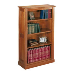 Home Decorators Collection - Hamilton 4-Shelf Bookcase - Provide storage for books, DVDs and more with the spacious Hamilton Bookcase. Tastefully restrained decorative details are inspired by early American style but work beautifully with any decorating theme. With a sturdy construction, this furniture is designed to last. Order yours today.Durably constructed of solid hardwood and hardwood veneer for exceptional quality.Rich finish and elegant trim provide appealing style.