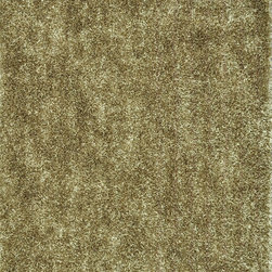 """Loloi - Loloi Carrera Shag CG-01 (Beige) 3'6"""" x 5'6"""" Rug - The Carrera Shag Collection brings a hand-tufted construction into the offering. Made in China of 100-percent polyester, this contemporary series offers both solid and multicolor shags in a choice of green, brown, red, steel, blue mocha, charcoal and spice"""