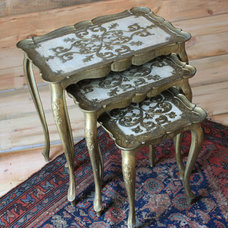 Eclectic Side Tables And Accent Tables Vintage Italian Florentine Nesting Tables - Set of Three
