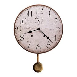 Howard Miller - Howard Miller Original Howard Miller II Wall Clock - Howard Miller - Wall Clocks - 620313 - This antique traditional wall clock hearkens back to the early 20th century and is perfect for adding an old world charm to home or office. Distinguished by its antique dial with large numerals, spade hands and antique pendulum, the Howard Miller II is a reproduction of the first timepiece Miller produced upon his return to America. Battery-operated quartz movement ensures consistent timekeeping and cements the appeal of the Howard Miller II Wall Clock.