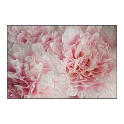 Casart coverings - White / Pink Peonies - Bloom Series Wallcoverings, White Pink Peonies, Medium (1 - Ann Alger has created White & Pink Peonies as photographic floral artwork with a painterly touch. Her Bloom Series is printed on the highest standard, canvas-like wallcoverings with a repositionable and reusable, self-adhesive backing. Casart wallcoverings can be temporary decor for apartment living for renters or a long-term decorating solution for home dwellers. These slipcovers for your walls allow you to quickly and easily transform your dcor. This product features a white and light pink peony design that allows you to enjoy the beauty of a garden from the interior of your home.