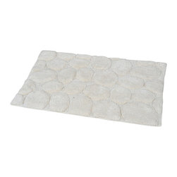 Prestige Cotton Bath Rug Stone Beige - This prestige cotton bath rug Stone is 100% cotton. Ultra-soft, deep, and inviting, this bath mat is a rug you can luxuriously sink your toes in and will give a sophisticated look to any bathroom. This beautiful bath rug features an eye-catching Stone effect. It provides a soft, cushioned feel, shock absorption and is durable. Manufacturer recommends using a nonskid pad beneath the rug (not included). Hand wash and no dryer. Indoor use only. Width 20-Inch and length 31.5-Inch. Color beige. Enhance your bathroom decor with this handsome prestige bath rug and add an understated elegance to your space. Imported.