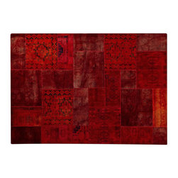 Mat Vintage - Mat Vintage Renaissance Red Rug - This line of decorative area rugs is from designs sourced around the globe. Reflecting the world and time we live in, these diverse and unique collections challenge traditional rug categories. The philosophy focuses around rich natural materials of the finest quality, and strong, distinctive designs. This rug is handmade, making it a totally unique and timeless piece.