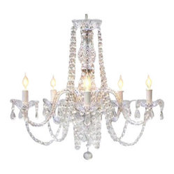 The Gallery - Murano Venetian-Style Chandelier, Trimmed Swarovski Crystals - Go for baroque: When you're ready to commit to an abundance of romance in your life, you might want to indulge in this brilliantly beautiful, Swarovski crystal chandelier.