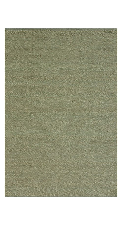 """Loloi Rugs - Loloi Rugs Green Valley Collection - Green, 3'-6"""" x 5'-6"""" - Hand woven in India of seagrass and cotton, the Green Valley Collection breathes organic beauty in the floors of any home with these solid and striped designs. And with a raw textural surface, Green Valley adds a distinctly natural vibe to the room."""