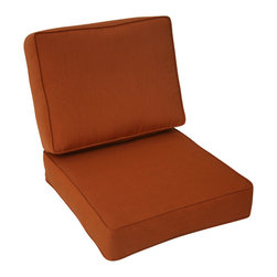Trijaya Living - Sunbrella Outdoor Universal Patio Furniture Club Chair Cushions, Paprika - Sunbrella Outdoor Universal Patio Furniture Club Chair Cushions
