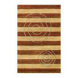 """Noble House - Elegant Gold/Rust Rug - Hand Tufted quality, in a premium and high end segment, produced with semi hard twist handspun yarn of best imported wool, similar to Ghazni. The tie dye dyeing technique provides a rustic and lustrous look to the modern and contemporary designs articulated with a thick body to justify value of the product. Features: -Technique: Tufted.-Material: Semi hard twist handspun wool.-Depending on amount of traffic on rugs, professional cleaning or washing is required every 1 to 2 years..-Rugs should be vacuumed on regular basis to remove dust and dirt which would restore life to the fibers. Do not vacuum the fringes. Do not Vacuum Shaggy rugs as it will damage the rug. To clean the Shaggy rug, flip it over and shake well by hand..-To avoid spills setting deep and becoming stubborn, it is recommended to act immediately. When spills occur on rugs, put some water in the affected area to dilute, blot with clean white cloth or paper towel. Remove the moisture as much as possible by blotting with absorbent cloth or thick paper towel. Do not rub spills as could result in setting spills deeper in the affected area..-Features:Construction: Handmade.-Recommended Care:Do not expose rugs in direct sun light for longer time as it could result in faded colors of rugs..-Collection: Elegant.-Distressed: No.-Collection: Elegant.-Construction: Handmade.-Technique: Tufted.-Primary Color: Gold-Rust.-Type of Backing: Latex.-Material: Wool.-Fringe: No.-Reversible: No.-Rug Pad Needed: No.-Water Repellent: No.-Mildew Resistant: No.-Stain Resistant: No.-Fade Resistant: No.-Eco-Friendly: No.-Recycled Content: No.-Outdoor Use: No.-Product Care: In case of liquid, blot clean with undyed cloth by pressing firmly around the spill to absorb as much as possible..Specifications: -CRI certified: No.-Goodweave certified: No.Dimensions: -Pile height: 0.08''.-Overall Dimensions: 66-132'' Height x 27-96'' Width x 0.08'' Depth.-Pile Height: 0.75"""".-Overall Product Weight (Ru"""