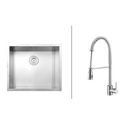 Ruvati - Ruvati RVC2596 Stainless Steel Kitchen Sink and Chrome Faucet Set - Ruvati sink and faucet combos are designed with you in mind. We have packaged one of our premium 16 gauge stainless steel sinks with one of our luxury faucets to give you the perfect combination of form and function.