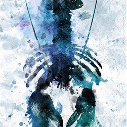 Scattered Lobster Artwork - 24 x 36 Scattered Lobster