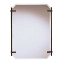 Kichler Mirrors As a match - Oiled Bronze - Mirrors. As a match to the beauty wrap bathroom fixture, purchase this fine oiled bronze beveled mirror to complete a uniform look for your beauty wrap lighting system. It measures 24 wide by 32 high.