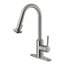 Vigo Industries - 12 in. Kitchen Faucet with Deck Plate in Stainless Steel - You deserve a high-performing kitchen - why not start with a Vigo faucet for your sink?