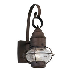 "Designers Fountain - Designers Fountain 1751-RT 1 Light Outdoor 7"" Onion Wall Lantern from the Nantuc - Features:"