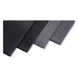 "buyMATS Inc. - 4' x 60' Soft Foot 3/8"" Standard Black - • Ergonomically styled anti-fatigue matting designed to provide comfort and relief for aching feet and legs."