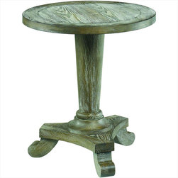 "Hammary - Hidden Treasures Driftwood Round Pedestal Table - ""Hammary's Hidden Treasures collection is a fine assortment of unique accent pieces inspired by some of the greatest designs the world over. Each selection is rich in Old World icons and traditions."