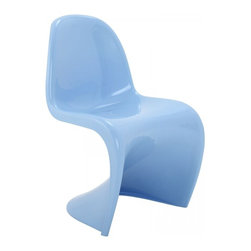 Modway Imports - Modway EEI-123-BLU Slither Dining Side Chair In Blue - Modway EEI-123-BLU Slither Dining Side Chair In Blue