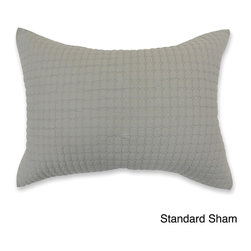 Cottage Home - Urkin Gray Sham - Available in standard, king and Euro sizes, Urkin shams are simple but stitched beautifully. The shams have tiny diamond shapes and are available in a stitched grey color.