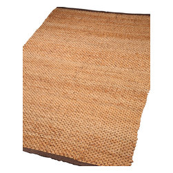 Natural Area Rugs - Augusta Jute Rug, Hand Woven, 100% Natural Fiber - Free & Same Day Shipping within Continental USA. International Shipping Available (Contact us for a quote). All natural 100% Jute, handwoven by Artisan rug maker. Jute is naturally durable yet soft. Like any rug, rug pads are recommended as it will prolong the longevity of your jute rug and protect hardwood floor. Do not pull loose fiber, clip and remove the loose ends with scissors. Variations are part of the natural beauty of natural fiber.