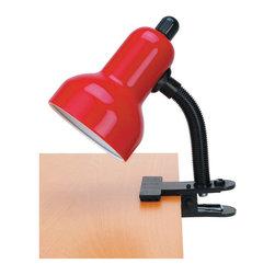 Lite Source - Gooseneck Clip Lite, Red 60W - Gooseneck Clip Lite, Red 60W