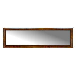"""Posters 2 Prints, LLC - 58"""" x 17"""" Belmont Light Brown Custom Framed Mirror - 58"""" x 17"""" Custom Framed Mirror made by Posters 2 Prints. Standard glass with unrivaled selection of crafted mirror frames.  Protected with category II safety backing to keep glass fragments together should the mirror be accidentally broken.  Safe arrival guaranteed.  Made in the United States of America"""