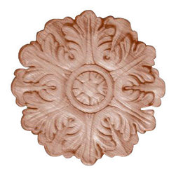 """Superior Moulding of Nevada - 609 Wood Applique 5-1/8"""" Diameter - Decorative wood onlays and appliques, are decorative ornaments useful for bringing visual interest to flat areas. Embossed wood onlays and appliques are often used to decorate fireplace mantels, stove or range hoods and cabinetry headers."""
