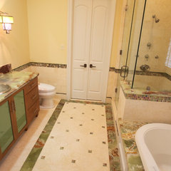mediterranean bathroom by The Granite Shop