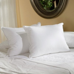 Belle Epoque Versailles Down Pillow - The premier Belle Epoque Versailles Down Pillow is simply the best and most comfortable down pillow you can find. This pillow is covered in luxurious high thread count cotton fabric and stuffed with European white goose down with a deluxe fill power over 750. Choose from three firmness levels - soft medium or firm - to suit your comfort preference and sleeping position. This pillow is conveniently machine-washable and is covered by a five-year limited warranty.Pillow Dimensions:Standard: 26 x 20 inchesQueen: 30 x 20 inchesKing: 36 x 20 inchesEuropean: 26 x 26 inchesAbout CGG Home FashionsWhether you are shopping at Bloomingdale's or relaxing at a premier resort you are sure to find and appreciate CGG Home Fashions products. For over 20 years the company has been offering a broad selection of luxury linens high thread count sheets duvet covers pillows down and synthetic comforters drapes and table linens. CGG's acclaimed Belle Epoque collection is the epitome of elegance with styles ranging from traditional to contemporary. With offices and a warehouse in Yonkers New York and a showroom on New York's Fifth Avenue CGG is at the epicenter of textile design and innovation.