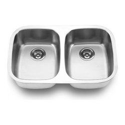 YOSEMITE HOME DECOR - Yosemite Home Decor MAG505 18-Gauge Stainless Steel Undermount Double Bowl Kitch - These high quality Yosemite sinks are a heavy gauge, type 304 (18/8), surgical grade, stainless steel for maximum durability - 18-Percent chromium (for shine) and 8-Percent nickel (for rust resistance). Stainless steel is an extremely durable surface; it can, however, be scratched or scuffed. When scuffing does occur, please remember that this is normal and the effect will become uniform with age. The high quality stainless steel does not lose its attractive shine.