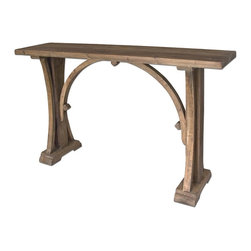 Uttermost - Uttermost Genessis Reclaimed Wood Console Table 24302 - Solid, reclaimed fir wood in natural, sun bleached finish with light antiquing glaze.