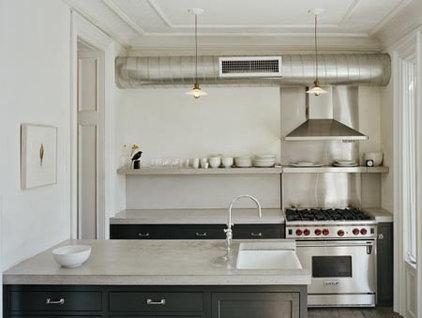 eclectic kitchen by Ken Levenson Architect P.C.