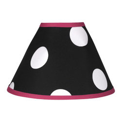 Sweet Jojo Designs - Hot Dot Lamp Shade by Sweet Jojo Designs - The Hot Dot Lamp Shade by Sweet Jojo Designs, along with the  bedding accessories.