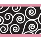 "Sweet Jojo Designs - Madison Wall Paper Border (15' x 6"") - Update your growing girl's room with a sweet yet sophisticated border. A curly pattern edged in pink makes the perfect choice — and the best part is, the paper is pre-pasted to apply in a snap."