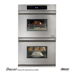 "Dacor - DO230S Distinctive Series 30"" Double Electric Wall Oven with 3.9 cu. ft. Per Ove - The Distinctive Double Wall Oven is a beautiful fusion of high-end design and performance The sleek understated handle is completely flush with the stainless steel door for a clean modern style Six ingenious cooking modes - Bake Broil Convection Bake..."
