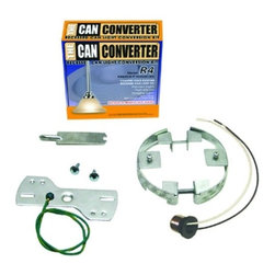 "Other - Contemporary 4"" Can Converter Recessed Can Light Converter Kit - Convert your recessed can to wire a pendant ceiling fan or ceiling light in minutes! This handy light adapter makes it a snap for anyone to install can light conversions. The Can Converter works with most standard types of lights including Juno Lighting Halo Lighting and most varieties of can light kits can light fittings and can light hardware. You'll need a power drill screwdriver and goggles in addition to the kit. 4"" can conversion kit. Parts included. Works with most can lights.  4"" can conversion kit.   Converts can lights to a regular socket.  Works with most light types.  Compatible with most can lights.  Home tools needed.  Parts included."