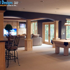 Craftsman Basement by Architectural Designs