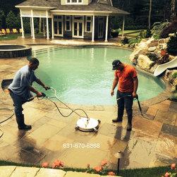 Pool patio cleaning and sealing Head of the Harbor Stony Brook Long Island NY - Pool patio cleaning and sealing Head of the Harbor Stony Brook Long Island NY