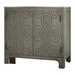 Hooker Furniture - Nailhead Chest - You've hit the nail on the head when comes to finding a unique furniture piece. This chest has a luxurious leather texture feel that is accented by nailhead rivets in an interesting pattern. Whether in the bedroom or living room, you'll love this industrial-rustic look in your home.