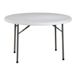 "Office Star - Work Smart Resin 48 Inch Round Resin Multi Purpose Table - 48"" round resin multi purpose table"