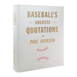 Baseball's Greatest Quotations Genuine Leather Book - Baseball's Greatest Quotations, genuine leather