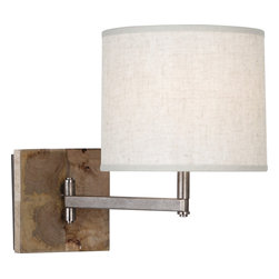 Robert Abbey - Oliver Wall Sconce - For that area in your home that doesn't get a lot of natural light, you can still add in a natural element. This lovely wall sconce combines earthy and elegant, thanks to the wood base, which is offset by the polished arm and crisp shade.
