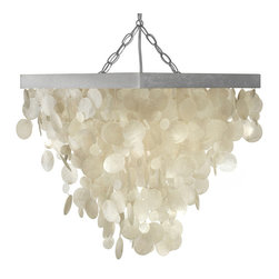 Kouboo - Capiz Seashell Rain Drop Pendant Lamp - You can almost feel the breeze of the sea from which the Capiz seashell were harvested, this pendant lamp adds freshness to any room in your house. Hang it over your bedside table, in your bathroom or your children's bedroom and a subtle coastal feel will set in.
