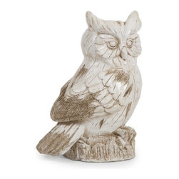 IMAX CORPORATION - Singleton Garden Owl - This hooty friend is perfect for adding character inside or out! With the look of aged, carved, painted wood, this wise owl works great as a door stop, a garden decoration, or a decorative room accent in an enclosed patio. Find home furnishings, decor, and accessories from Posh Urban Furnishings. Beautiful, stylish furniture and decor that will brighten your home instantly. Shop modern, traditional, vintage, and world designs.