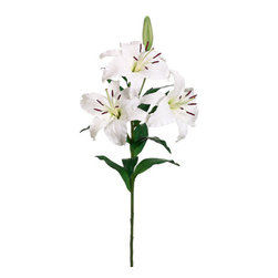 Silk Plants Direct - Silk Plants Direct Oriental Lily (Pack of 4) - Pack of 4. Silk Plants Direct specializes in manufacturing, design and supply of the most life-like, premium quality artificial plants, trees, flowers, arrangements, topiaries and containers for home, office and commercial use. Our Oriental Lily includes the following: