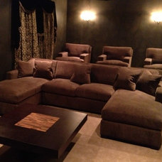 Contemporary Home Theater by Bed Down