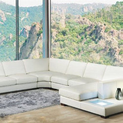 Luxury Italian Sectional Upholstery - Extra wide chaise lounge