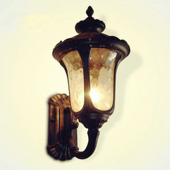 Vintage Elegant Outside Lighting Wall Black