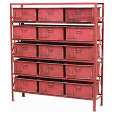 Industrial Storage Units And Cabinets by Masins Furniture